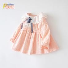 女宝宝公主裙(小)童女童连衣裙子纯lt12洋气潮mi岁4婴儿春秋装韩款
