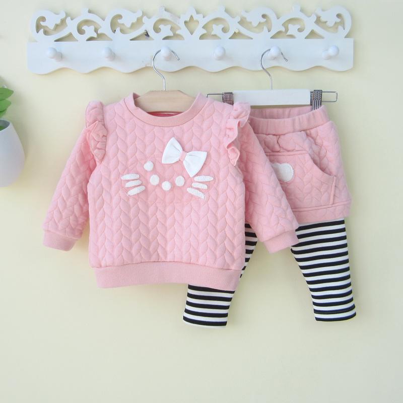 小童女宝宝春秋装0一1-3岁卫衣裙裤两件套装婴儿衣服韩版公主秋装