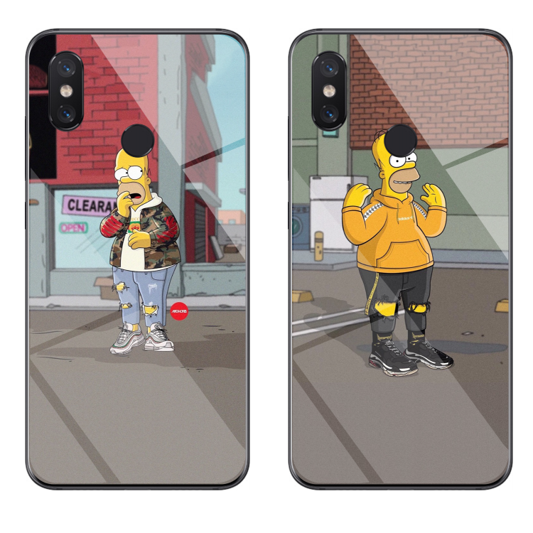 小米8/手机壳 5x玻璃壳6x个性6潮8SE定制探索版MIX2S创意酷辛普森