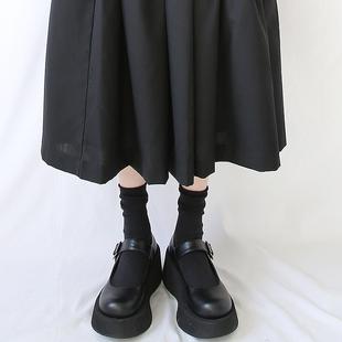 玛丽珍鞋女浅口软妹复古法式松糕厚底鞋JK鞋萝莉LO鞋2020春新学生