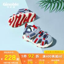 基诺浦机能鞋2021新夏季宝宝学步凉鞋包头镂空儿童鞋TXG1058