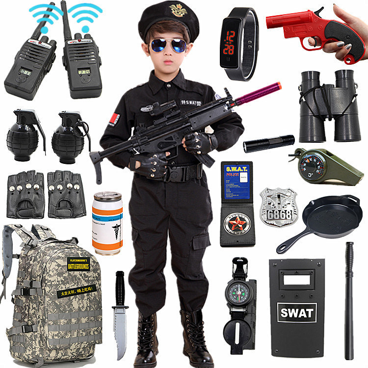 儿童玩具枪狙击男童吃鸡装备套装小孩绝地男孩求生仿真警察水弹抢图片