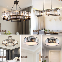 American style crystal chandelier living room lamp modern minimalist dining room bedroom full house crystal lighting combination package