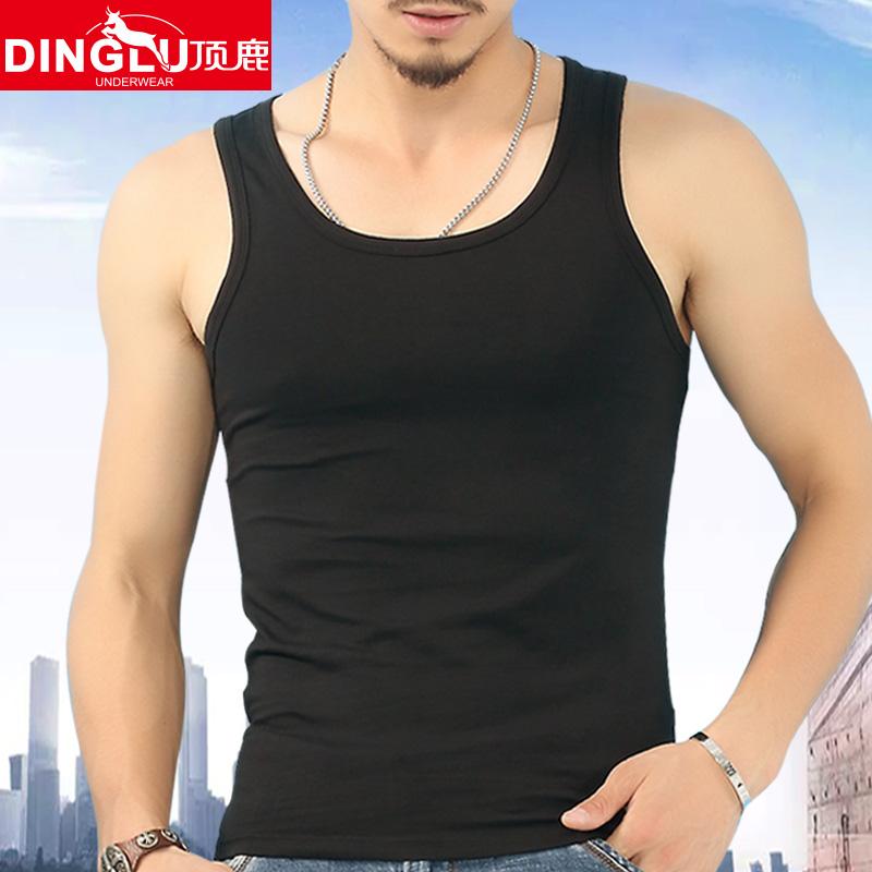 男士純棉背心弔帶緊身青年修身型運動健身打底跨欄工字寬松韓版鼕