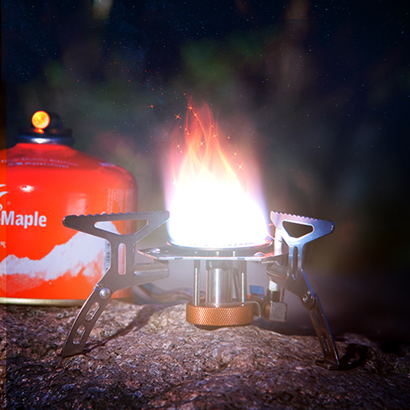火枫105户外炉头 便携野营炉具节能分体式气炉带电打火野外炉头