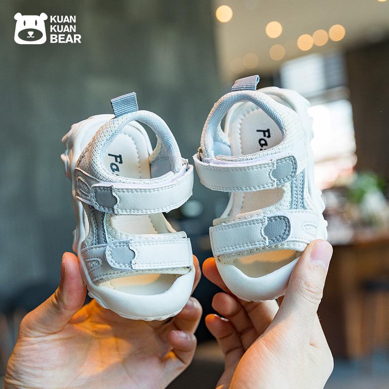 宝宝凉鞋1-3岁软底婴儿学步鞋一小童包头女童2幼儿童男童鞋子夏季
