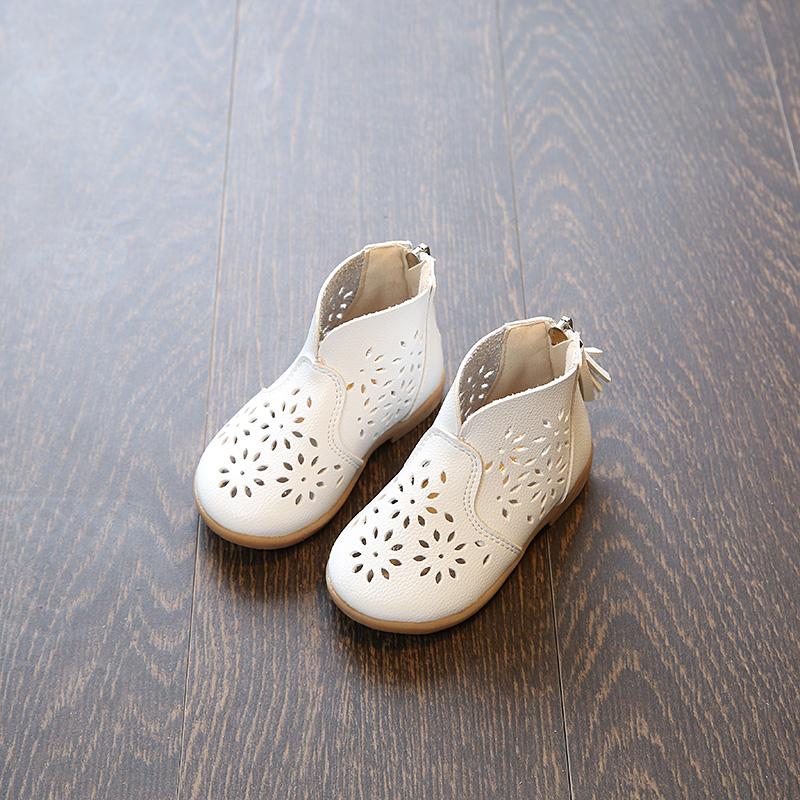 儿童镂空靴子女童马丁靴单靴2019新款夏季1-3-4岁2女童鞋小公主靴