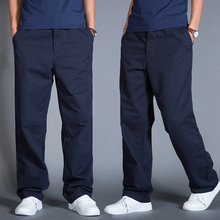 夏季纯棉休闲裤男宽松裤子春秋工装裤6s14裤大码k8商务西裤