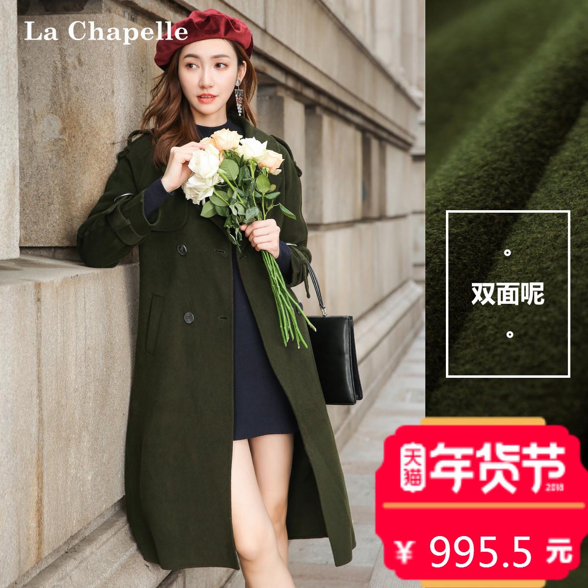 双面呢大衣女2017秋冬季新款韩版宽松长款过膝风衣羊毛呢子外套