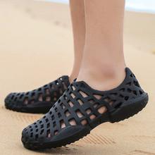 海边沙滩拖鞋男夏季防滑ho8头凉鞋软up溪凉拖护士洞洞鞋越南