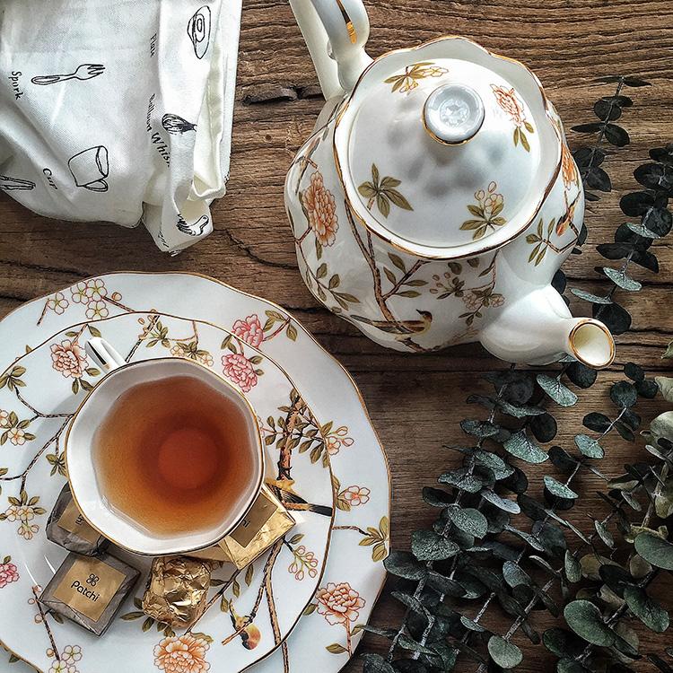 安娜16点英式下午茶骨瓷咖啡杯碟套装茶具家用欧