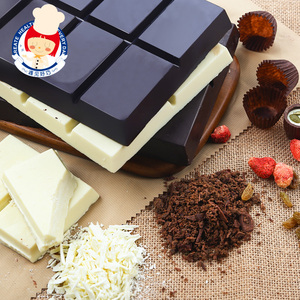 Yi Nong handmade diy baking ingredients black and white pure chocolate on behalf of cocoa butter large plate pure brick bulk wholesale 5KG