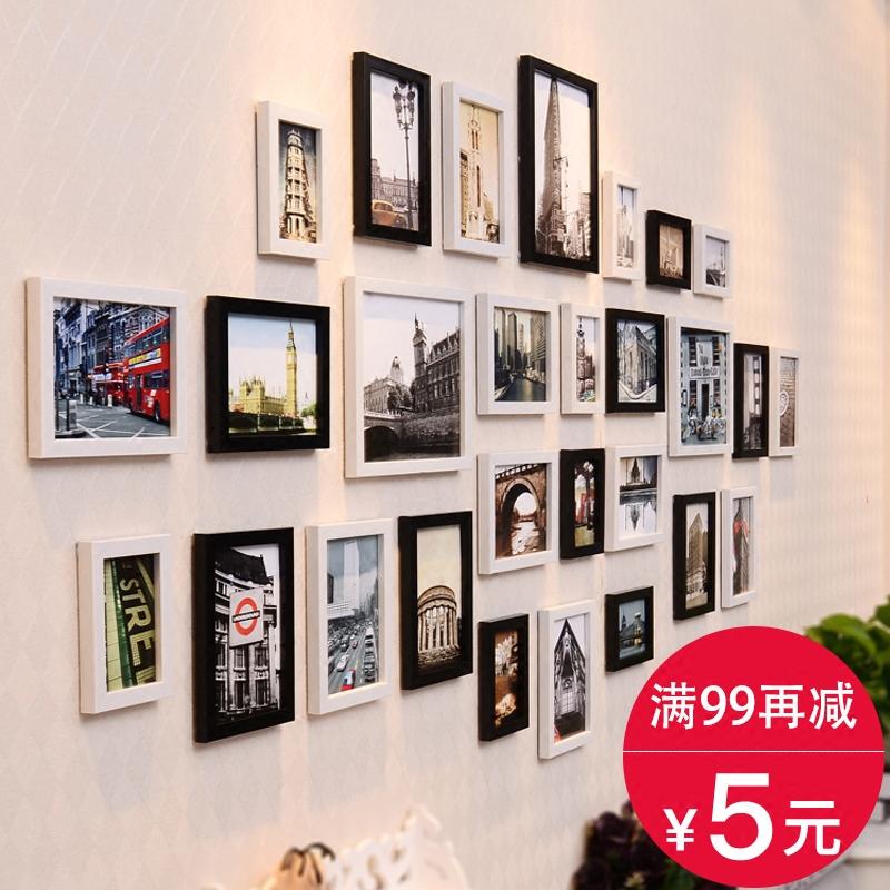 简约现代客厅照片墙装饰相框墙欧式相片框相框创意挂墙组合背景墙