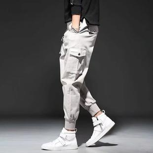 秋季工装裤男士潮流宽松 嘻哈束