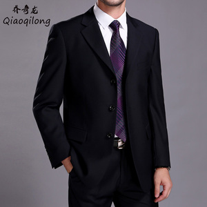 Qiao Qilong suit suit men's autumn and winter men's plus size C version business professional dress formal wedding suit jacket