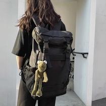 潮牌双肩包男大容量背包简约休闲旅行包防水运动户外旅游登山包
