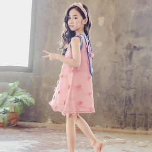 女童连衣裙夏装2018新款韩版大儿童夏季洋气公主裙子小女孩童装潮