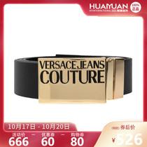正品Versace jeans couture/范思哲腰带新款男士休闲金属板扣皮带