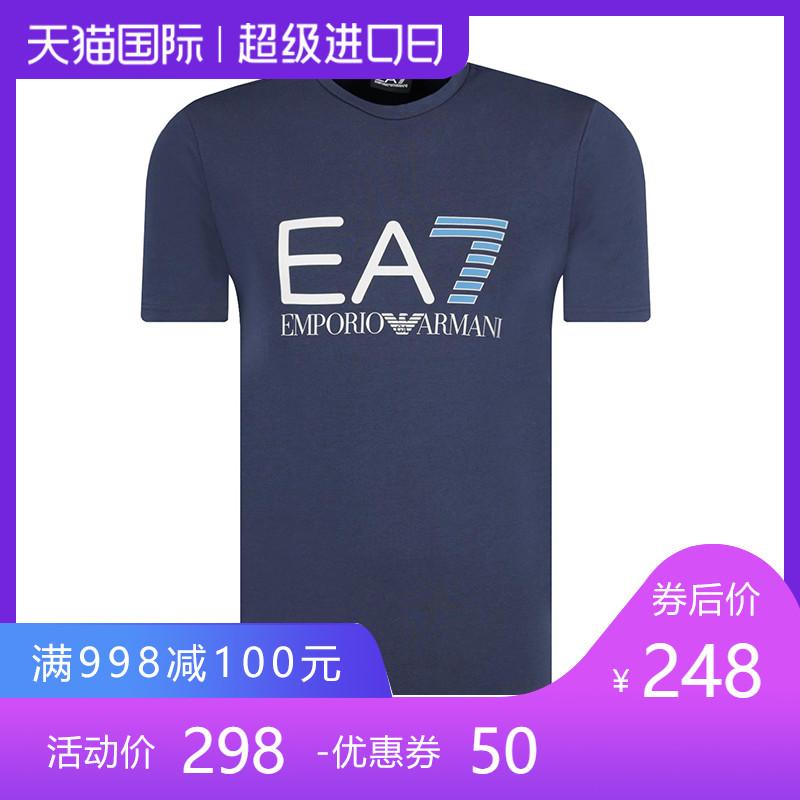 正品Emporio Armani/阿玛尼短袖体t恤 19夏季新款纯棉EA7印花男装