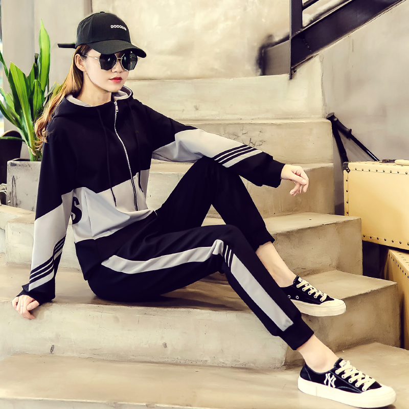 初秋女运动套装2020新款韩版时尚洋气休闲卫衣两件套学生潮流宽松
