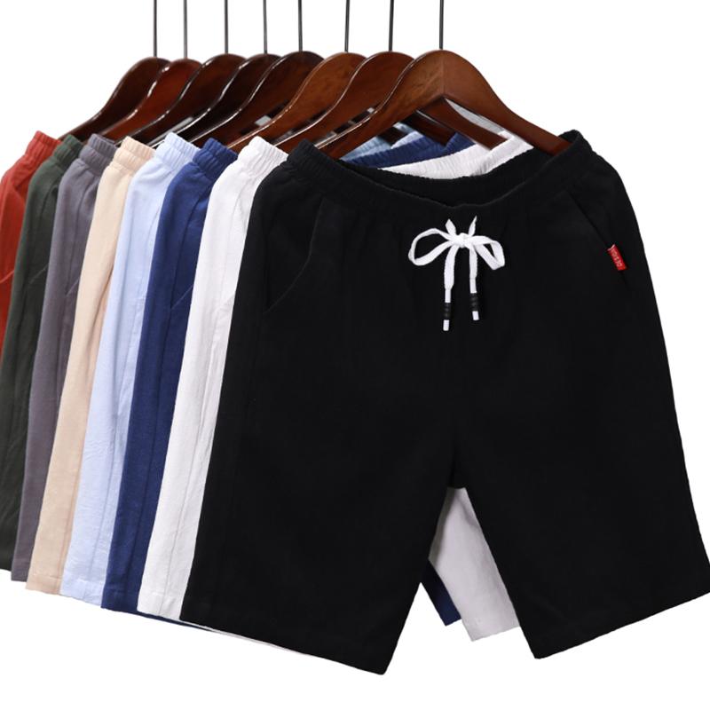 短裤男夏季运动5五分裤7七分休闲中裤子男士宽松沙滩裤大裤衩潮流