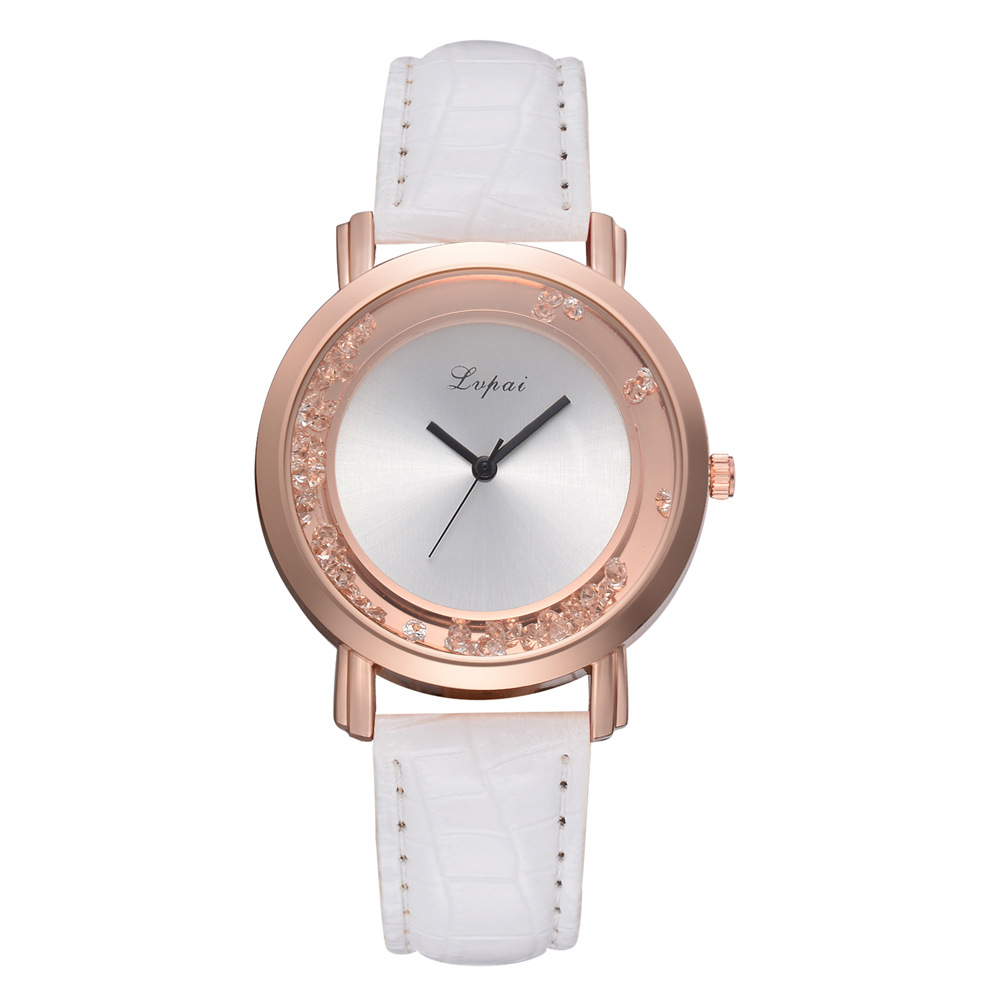LVPAI新款流行水钻滚珠品牌手表时装女款PU手腕表