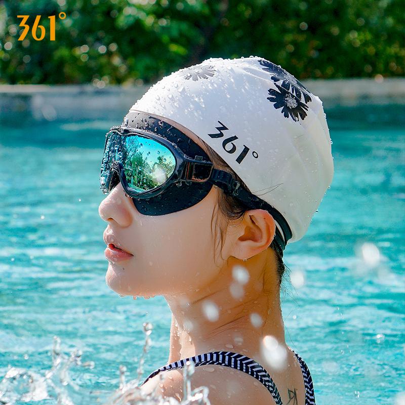 361度泳帽女士长发防水硅胶护耳泳帽男韩国时尚可爱儿童游泳帽子