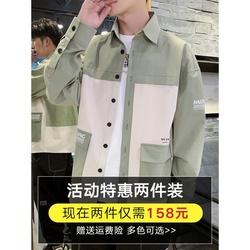 衬衫男长袖韩版潮流宽松秋装上衣服休闲帅气寸衫潮牌工装衬衣外套