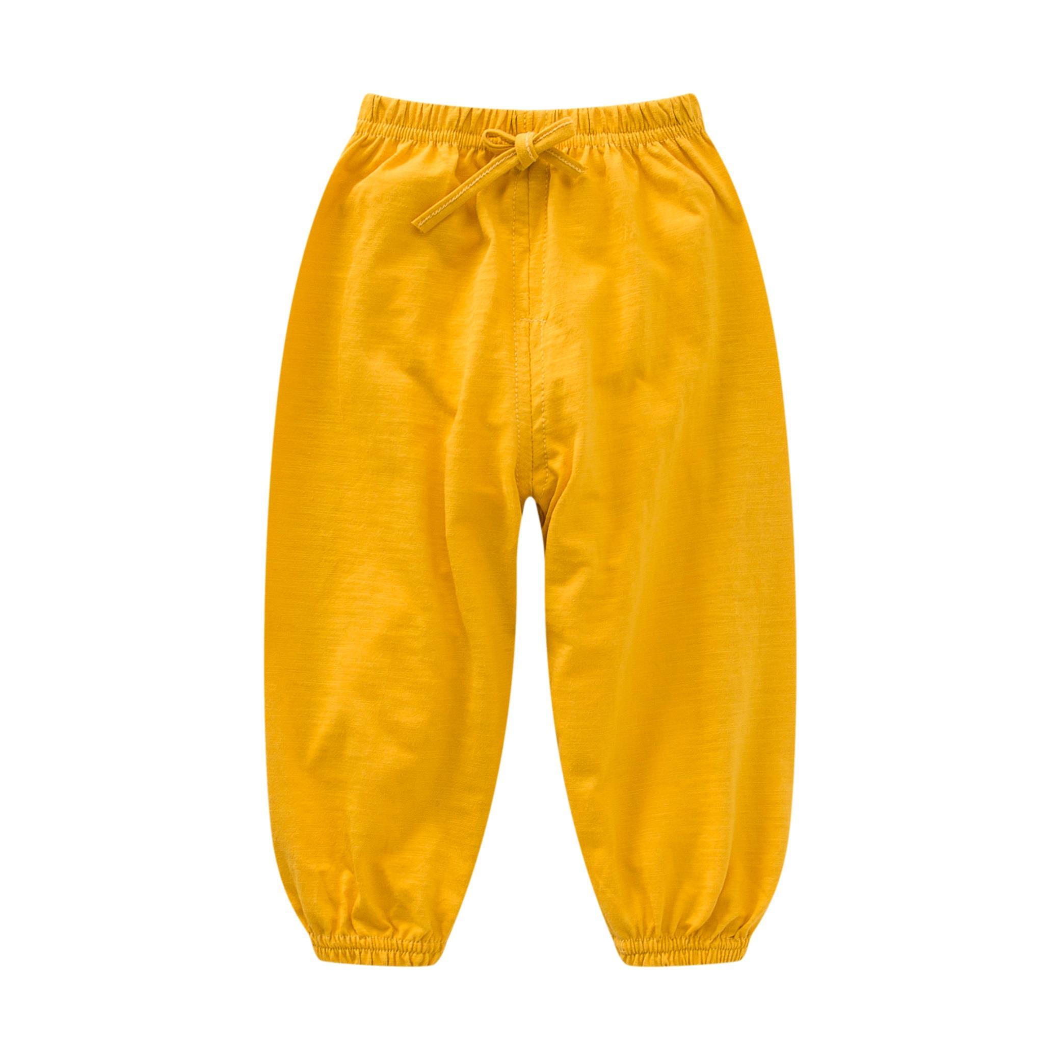 小孩夏裤可开档简约女童白色夏天宝宝儿童防蚊灯笼裤女式夏装男孩