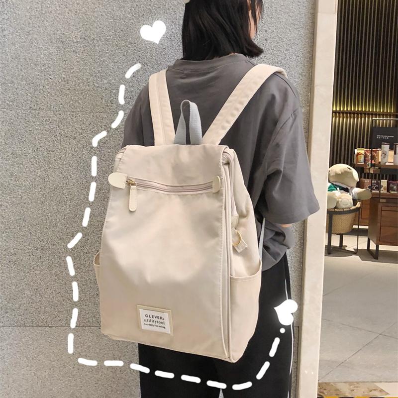 ins风书包女大学生大容量韩版高中2019新款时尚双肩包电脑包背包