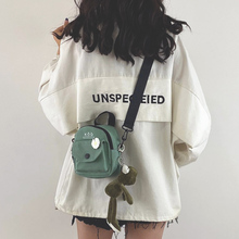 少女(小)包包女mo3新款20og款百搭原宿学生单肩斜挎包时尚帆布包
