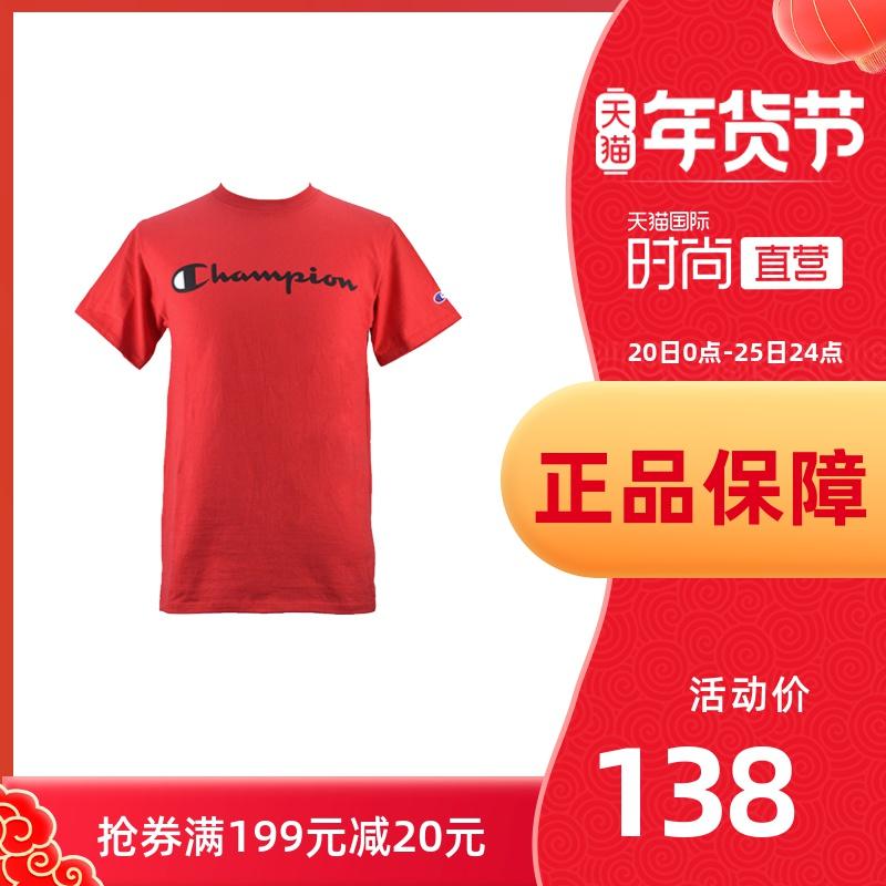 【直营】CHAMPION冠军男装美版草写LOGO休闲T恤短袖GT23H Y06794