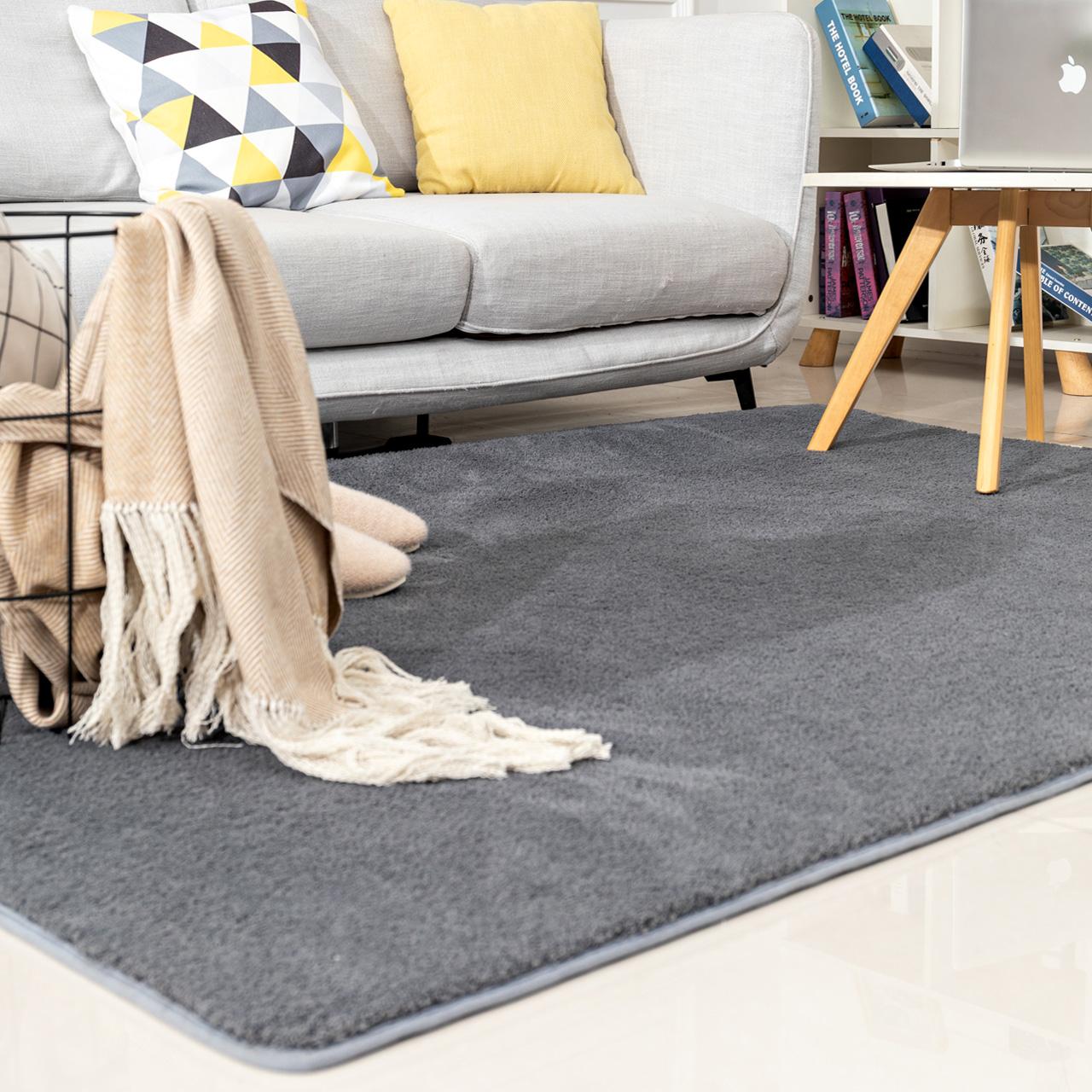客厅地毯北欧现代简约沙发茶几毯美式宜家可定制水洗床边卧室地毯