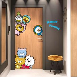 卡通门贴小图案可爱儿童房间卧室装饰冰箱贴纸3D贴画创意墙纸自粘