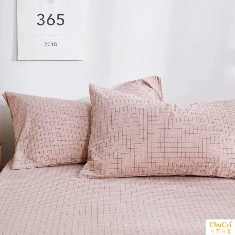 套装】单人成人学生枕头带水洗棉全棉枕套单个一只含枕芯一对拍2