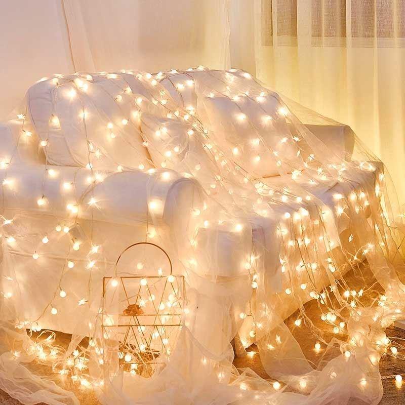 小串灯家用闪灯上铺寝室窗帘灯宿舍装饰卧室宿舍床帘星星灯夜灯