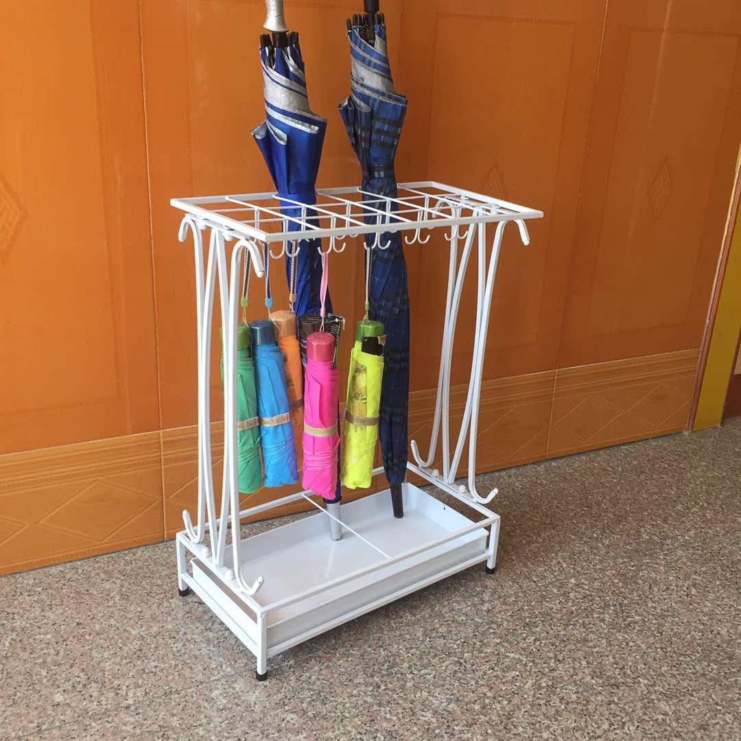 雨伞架酒店 大堂家用创意雨伞桶铁艺雨伞收纳架挂伞放折叠伞架子