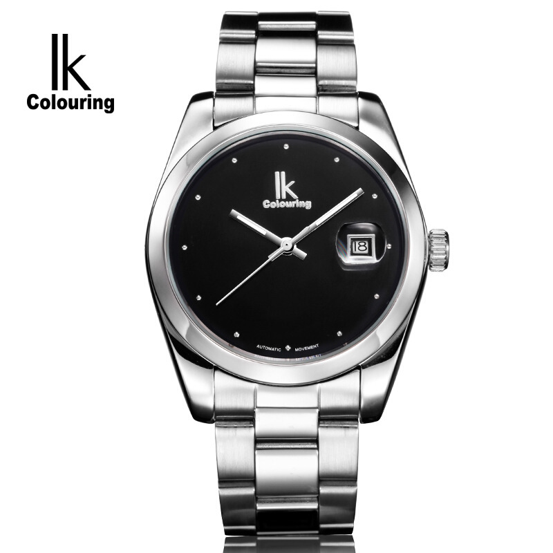 时尚流行女士腕表阿帕琦IK品牌手表简约大气款全自动机械精钢钢带