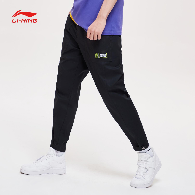 李寧XLARGE聯名款BAD FIVE系列破舊立新男士休閑褲2019新款運動褲