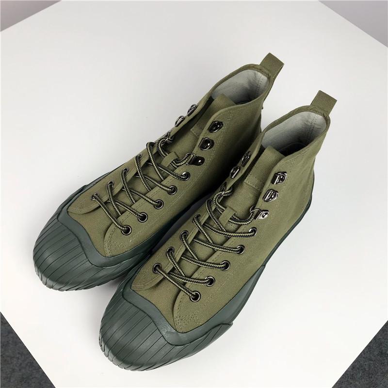 流行男鞋帆布鞋男高帮硫化鞋日系流行复古工装男式板鞋shoes men