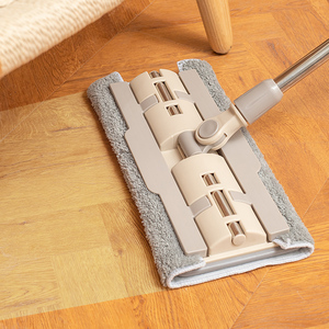 Flat mop household hands-free lazy people mop tile mop mop mop cleaning artifact mop clean and wet