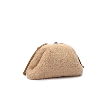 Cloud pack women's cashmere Alpaca small CK wool pack cross arm bag autumn and winter new leather small MK dumpling bag