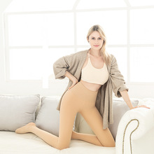 Plush pantyhose, high waist, thick silk sock, leggings, women's closed abdomen, hip lifting pressure pants, thin legs, bare legs, bottoming socks