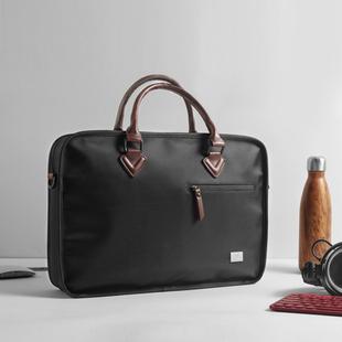 新品时尚商务笔记本手提电脑包大容量帆布单肩斜挎包公文包