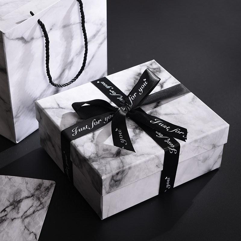 创意大理石礼品盒生日礼品包装盒礼盒礼物盒精美盒子小号韩版简约