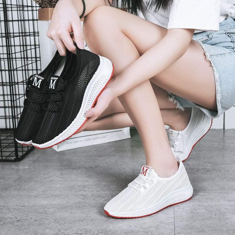 【买1送1,两双装】新款透气网鞋女休闲布鞋女单鞋女镂空运动鞋女