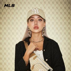 MLB官方 男女帽子泫雅同款老花系列棒球帽运动休闲潮流鸭舌帽CPFB