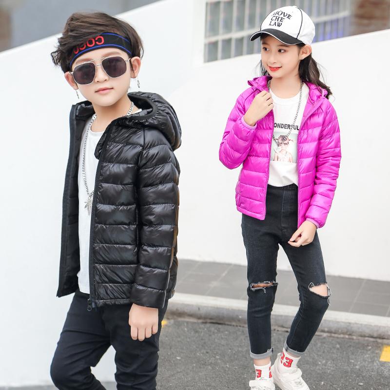 儿童羽绒棉服男童轻薄款女童棉衣小童中大童冬季宝宝冬装秋款外套