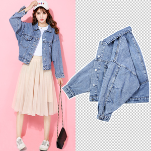 Denim jacket female loose Korean version of the tide ins2019 new spring and autumn net red student bf short women's shirt
