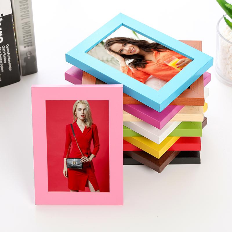 含念相框摆台创意挂墙5寸6寸7寸8寸10寸16寸A4画框相片实木质相框